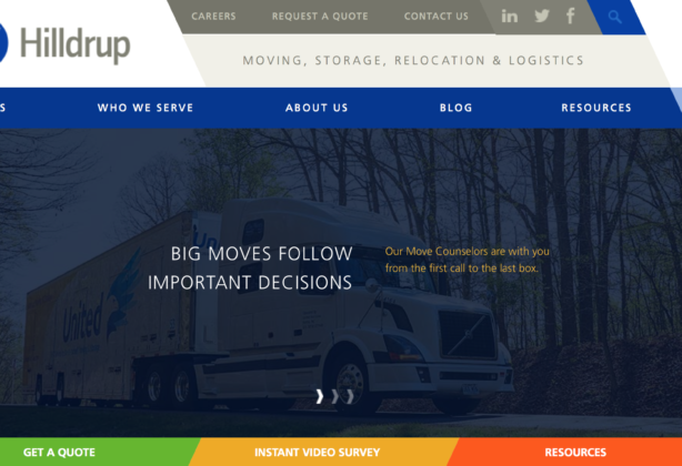 Hilldrup website homepage