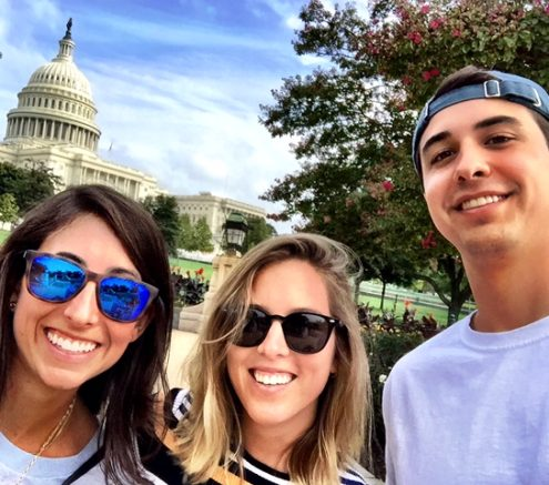 Visitor with Jordan and Charlie McDaniel in D.C.