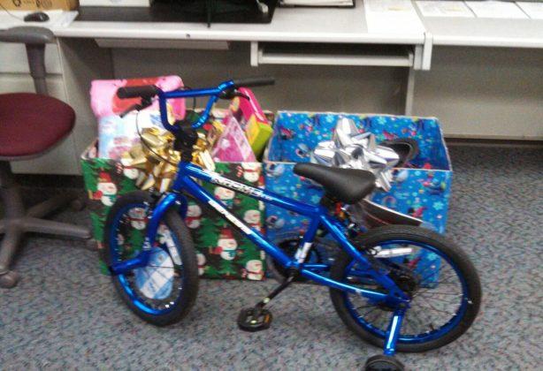 Christmas gifts and bike