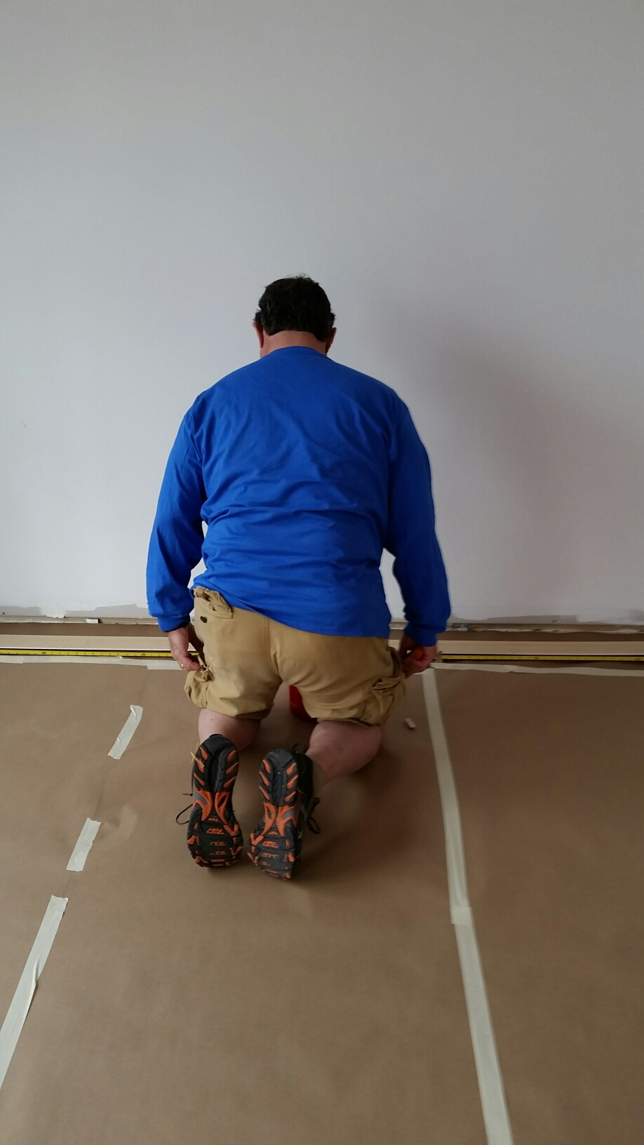 Employee protect home flooring