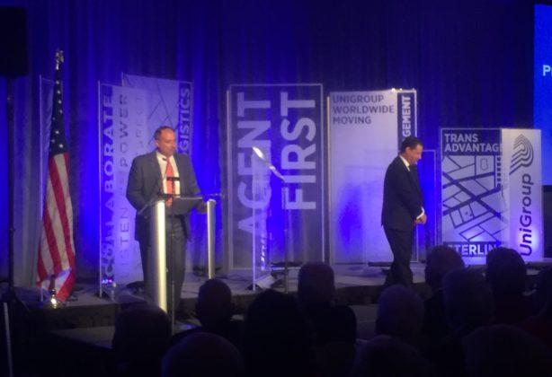Charles W. McDaniel speaks at UniGroup podium