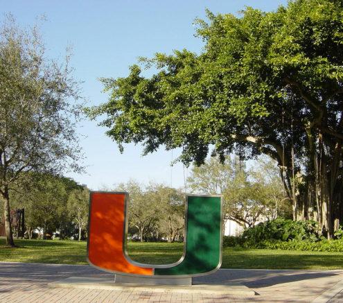 University of Miami logo outside