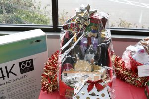 Wine and cheese themed Christmas basket to be raffled