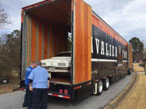 Car inside Hilldrup's UVA truck