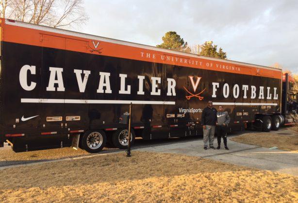 Full length of Hilldrup's custom UVA truck