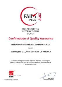 FAIM Certificate 2017