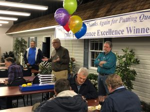 Harold Wood speaks at Hilldrup retirement event