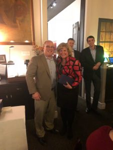 Cathy Whitener accepts sales award from Jimmy Murray