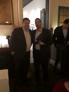 Hilldrup employee accepts a sales award