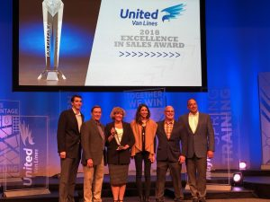 Hilldrup team supporting Cathy Whitener, 2018 Excellence in Sales Award recipient