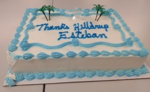 Cake for Estaban's retirement party