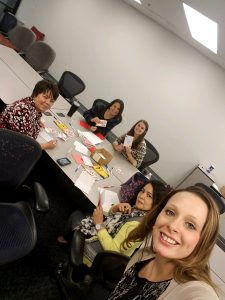 Hilldrup employees make cards for valentine's day