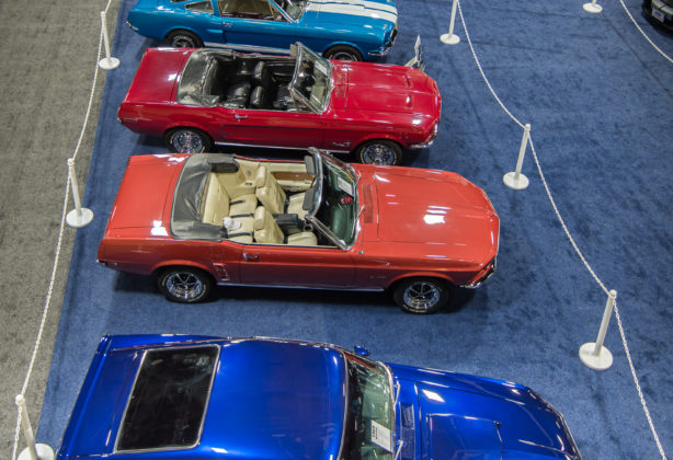Cars on display as part of Washington Auto Show