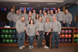 Hilldrup team dressed in matching sweatshirts