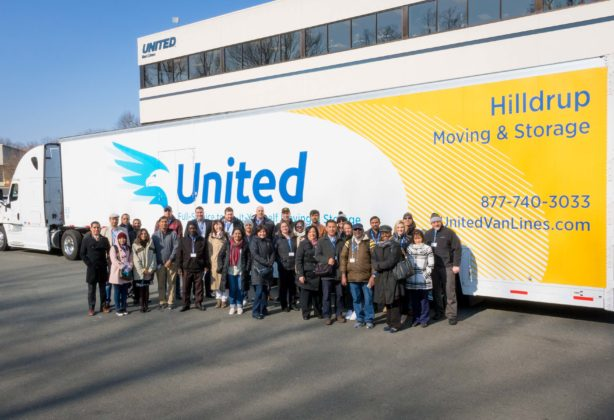 Hilldrup tour with visitors next to truck