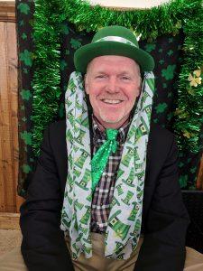 Robert McKillips dresses up for St. Patrick's Day