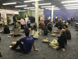 Hilldrup Stafford employees listen to instruction on how to perform CPR