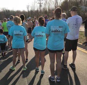 Runners prepare to participate in 5K