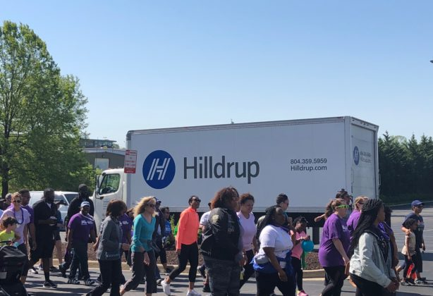 Participants walk in March For Babies event in Greenville