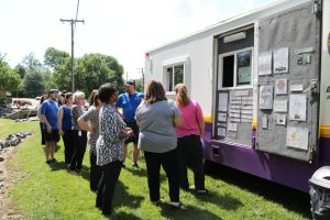 Hilldrup employees in line for ice cream truck
