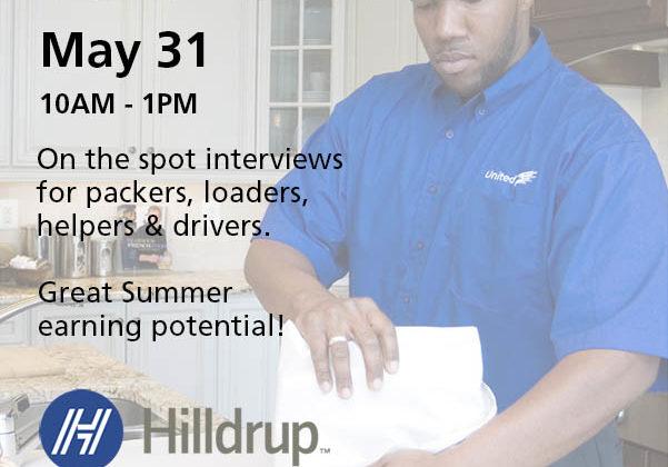 Job fair ad for Hilldrup