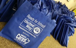 RUW bags for book drive