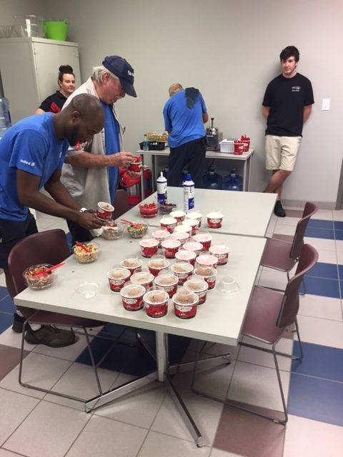 Hilldrup's Greenville branch picking toppings for their Brusters ice cream