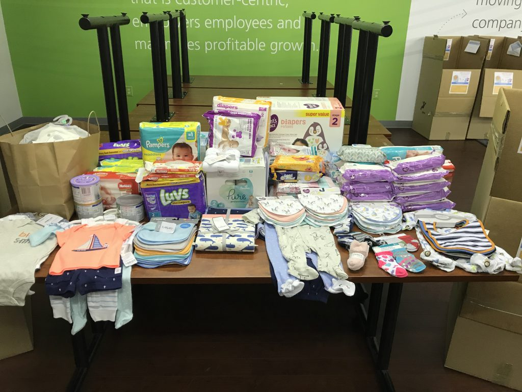 Baby drive items on a table
