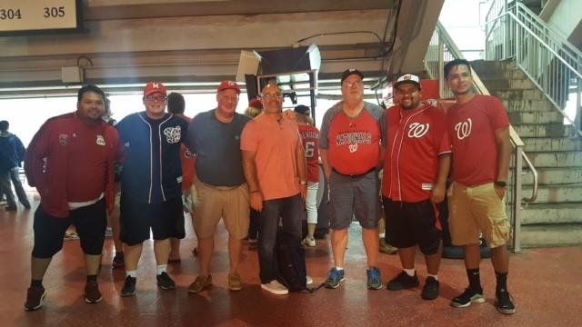Hilldrup employees at baseball stadium