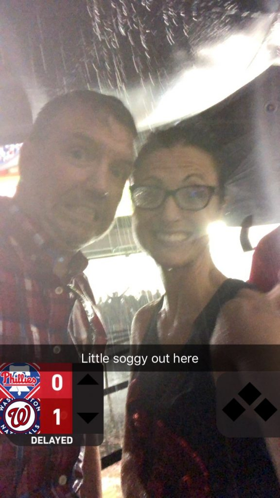 Instagram story of couple in a rainstorm