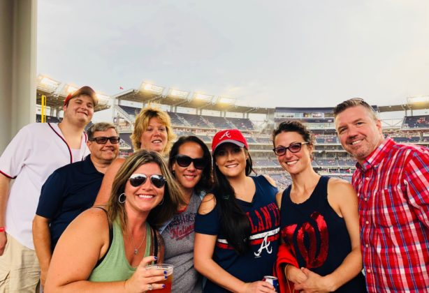 Hilldrup employees at a Nationals game