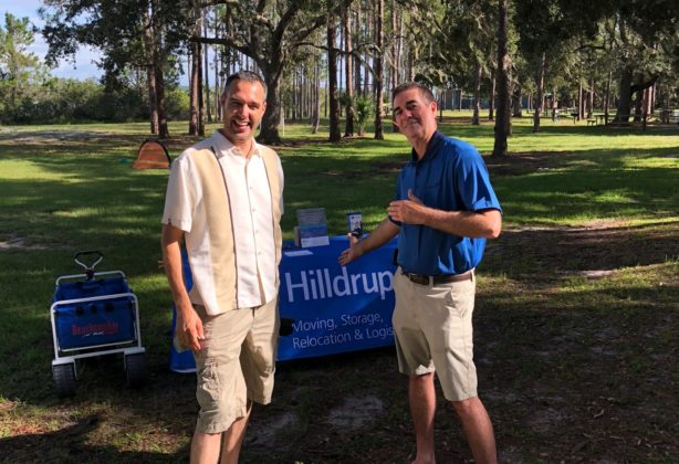 Hilldrup employees at booth outside