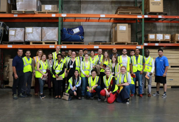 FIDI students in warehouse