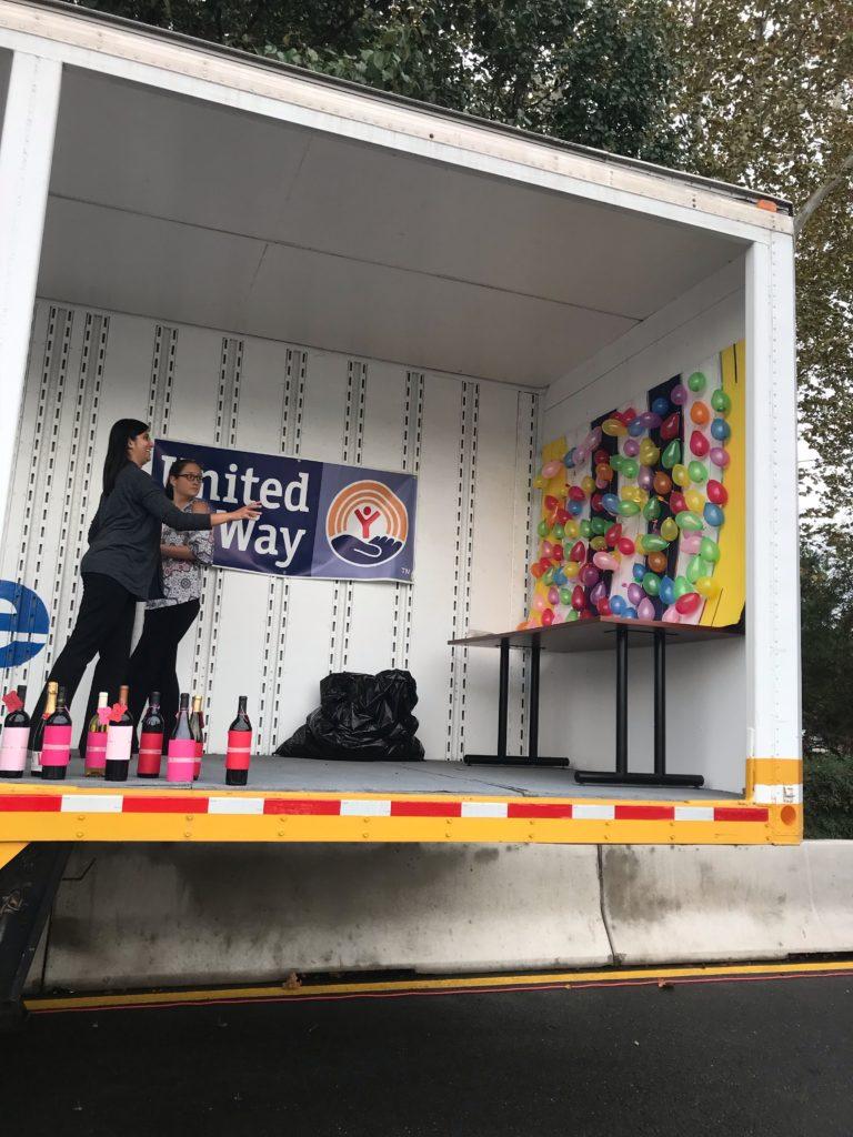 RUW Kickoff Rally 2018 balloon dart game
