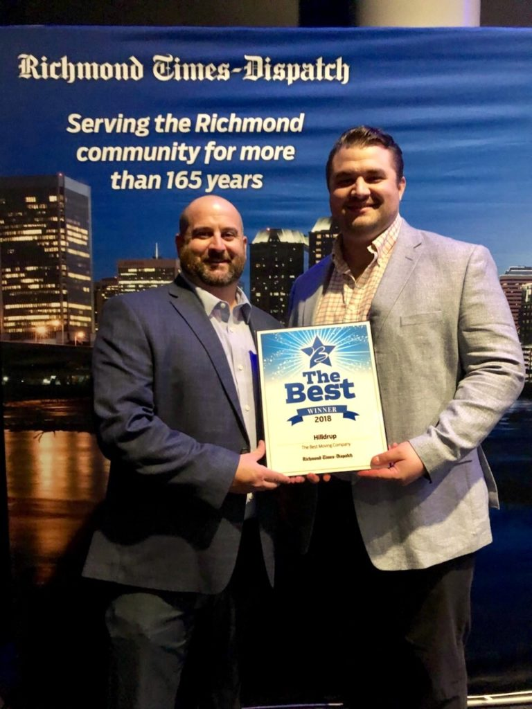 Richmond branch employees awarded with the Best Mover in Richmond 2018
