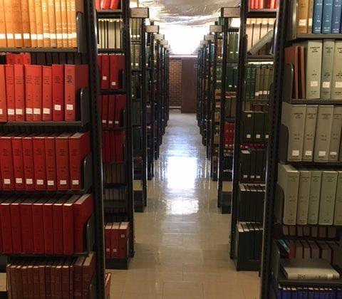 UNC Library hallway