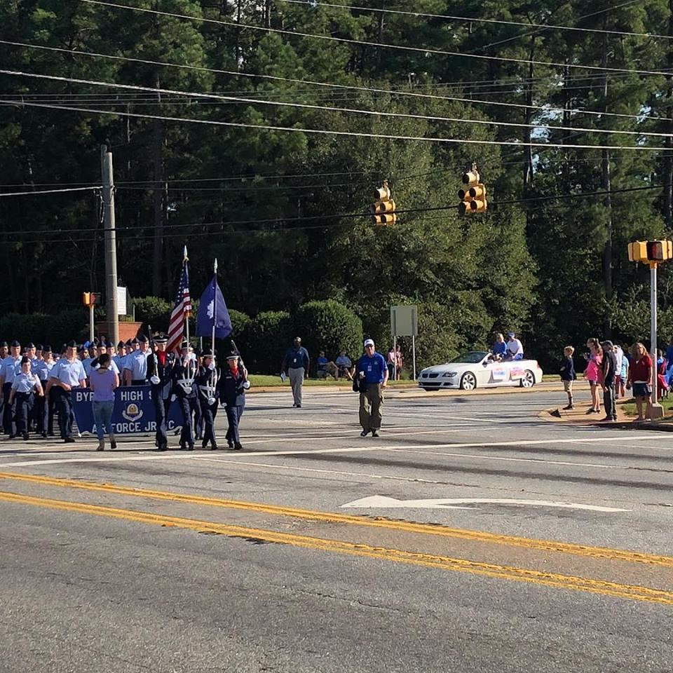 High school homecoming parade