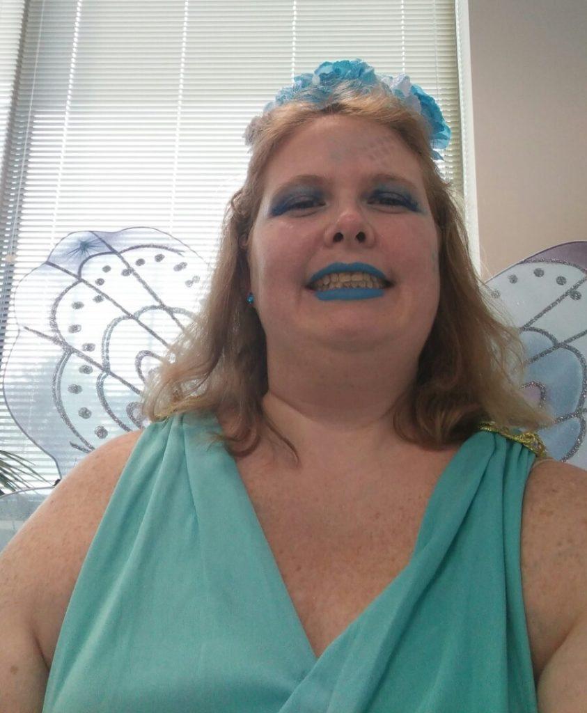 Becky Antio dressed as a fairy
