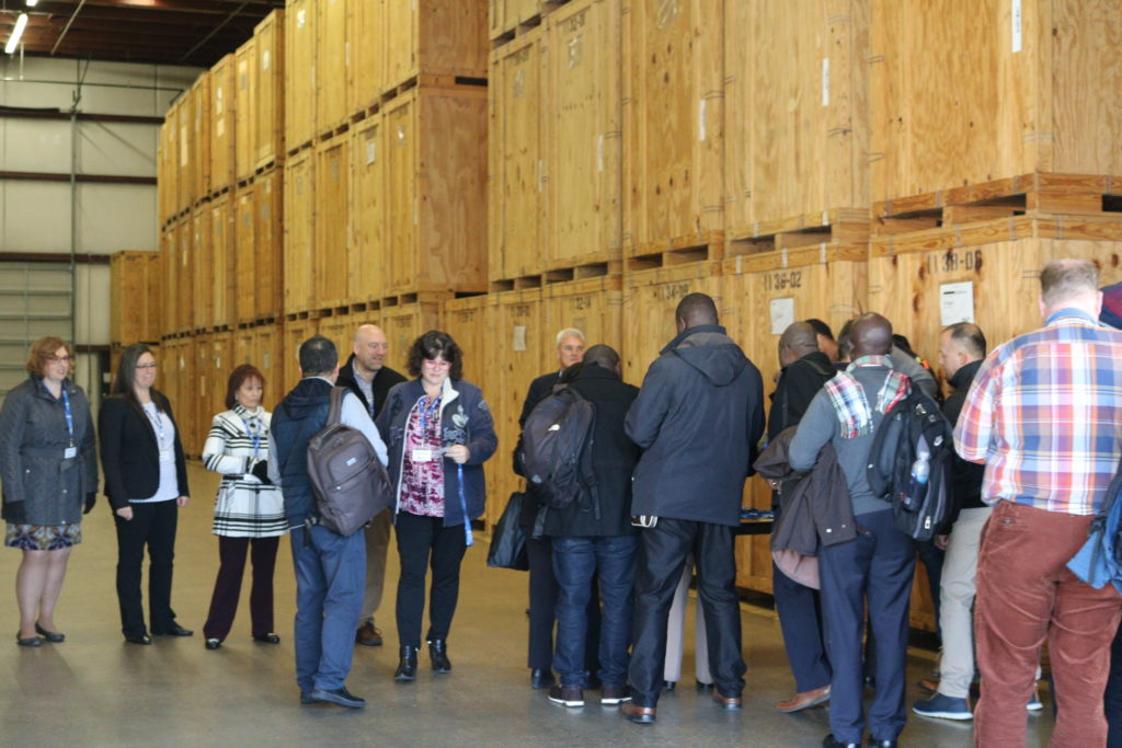 Visitors enter our warehouse and meet the International team