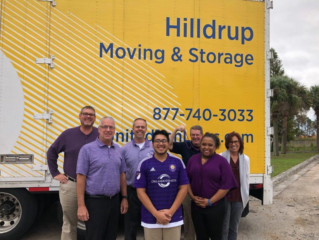 Orlando team dressed in purple
