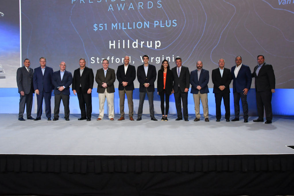 Hilldrup Senior Managers on stage at UniGroup