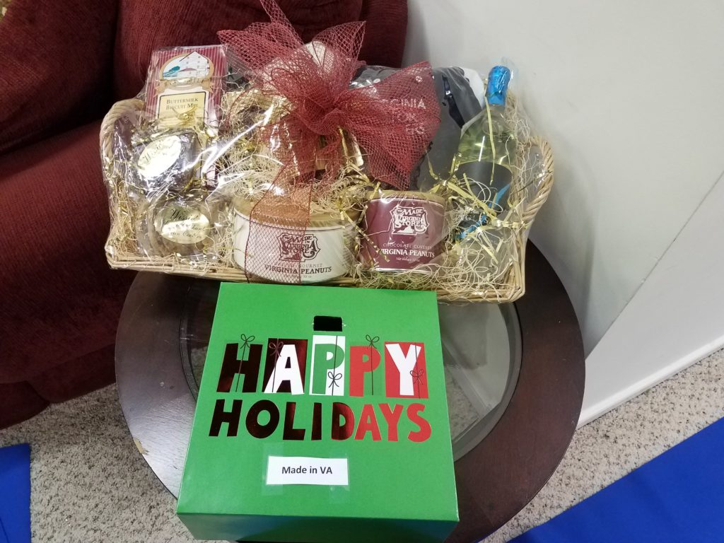 Made in Va store gift basket