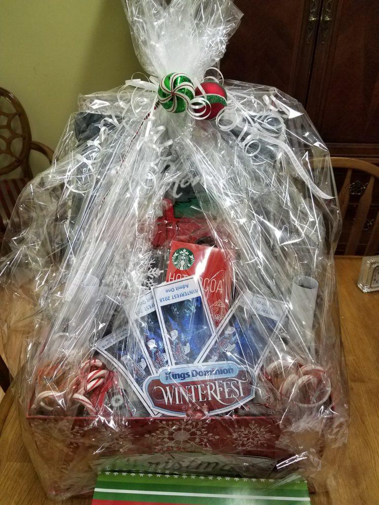 Winterfest King's Dominion giftbasket