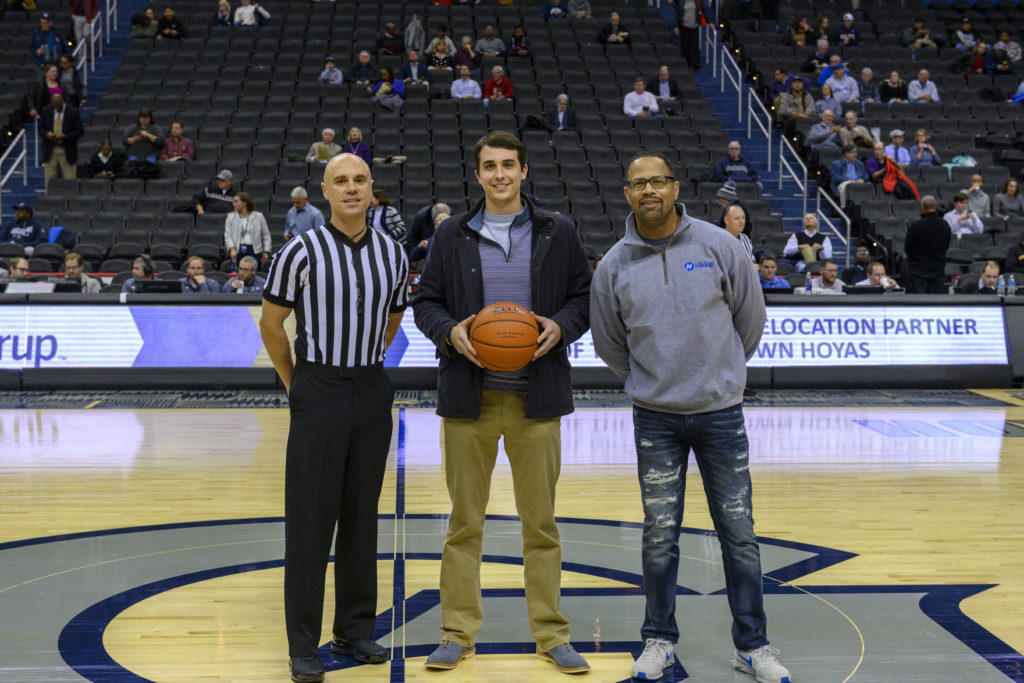 Charlie S. McDaniel and Remus Boxley at Georgetown basketball game