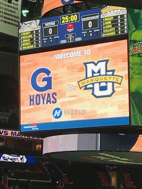 Big screen at Georgetown game arena