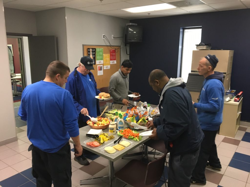 Operations team enjoys lunch