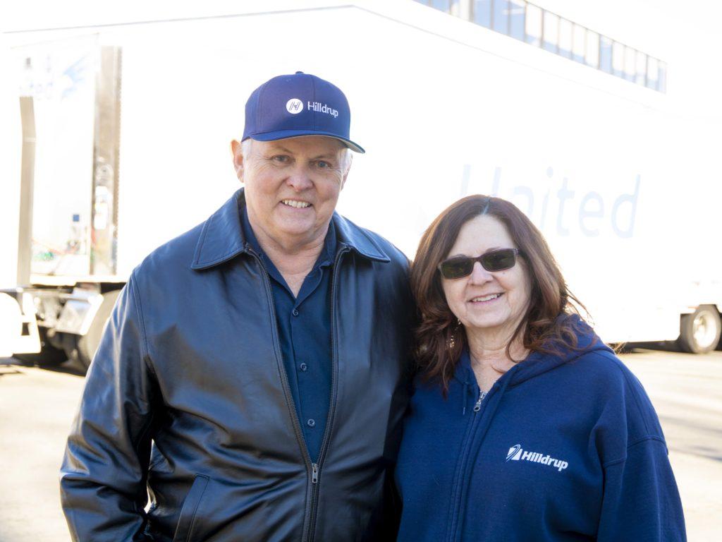 Johnny Abbott, Van Operator, with his wife Alice