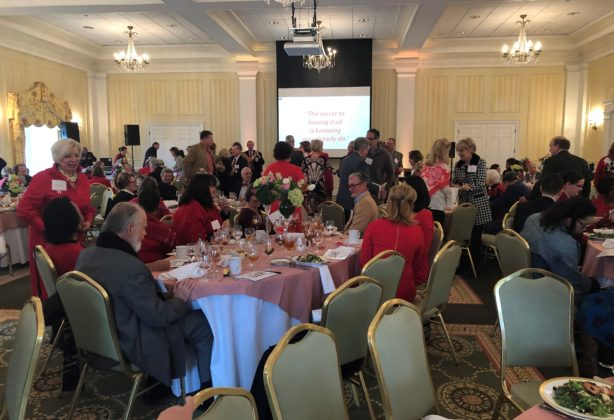 Attendees at the meeting room of the Go Red Brunch in Fredericksburg