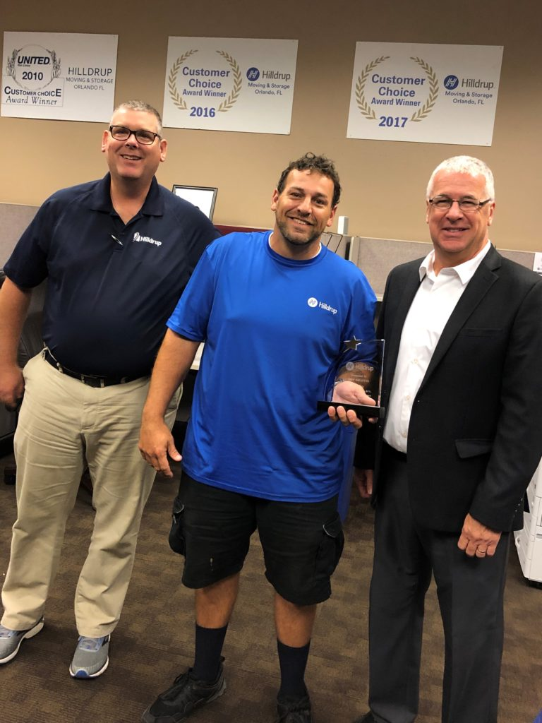 Jeff Arlotta in Orlando accepting 2018 Mr. Consistency award