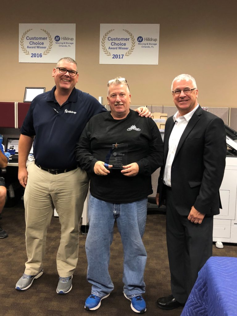 Tom Reilly in Orlando accepting 2018 Mr. Safety award